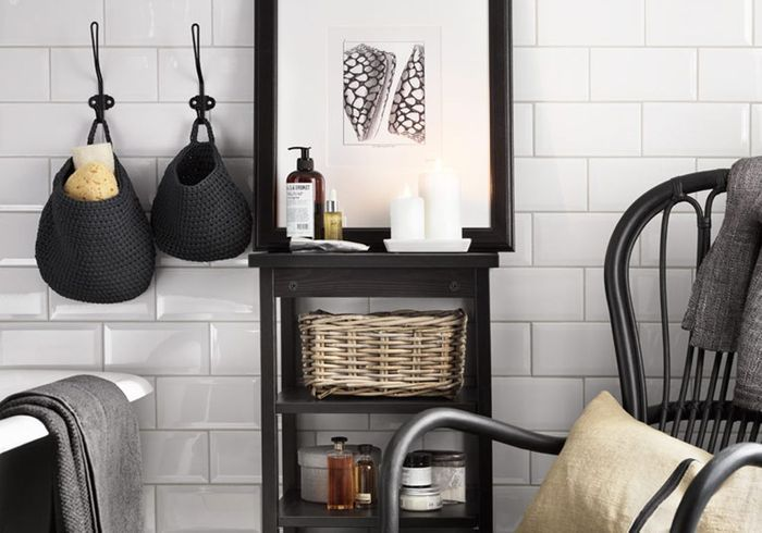 salle de bains des rangements canons moins de 30 elle d coration. Black Bedroom Furniture Sets. Home Design Ideas