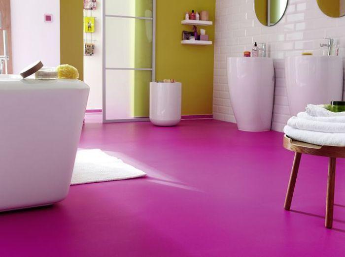 20 salles de bains color es elle d coration - Elle deco salle de bain ...