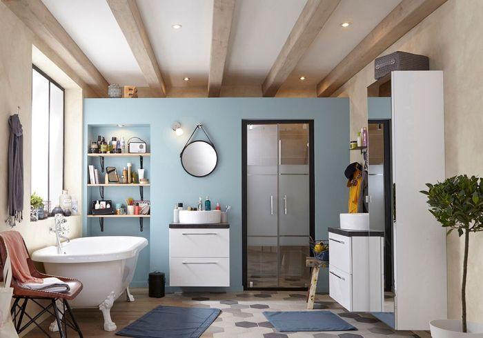 Salle de bains 15 sols qui font la diff rence elle - Elle deco salle de bain ...