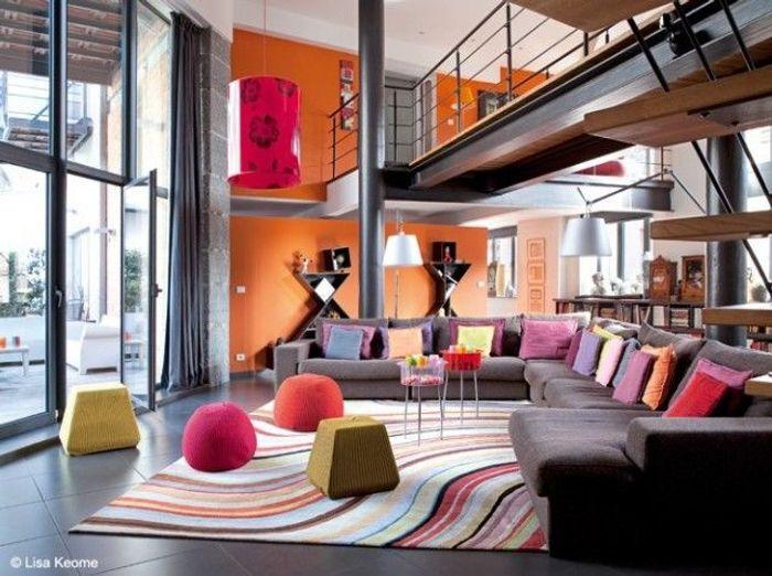 Je veux un salon design elle d coration - Deco salon style industriel ...