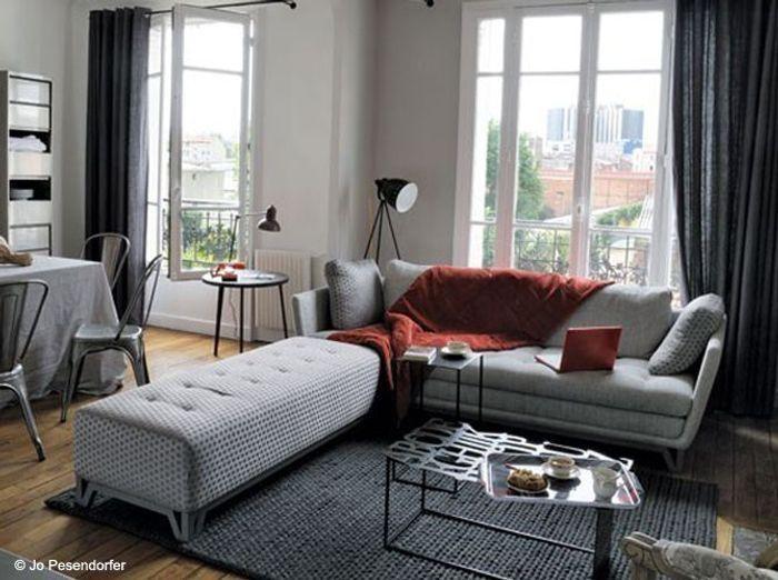 Je veux un salon design elle d coration - Deco salon mauve gris ...