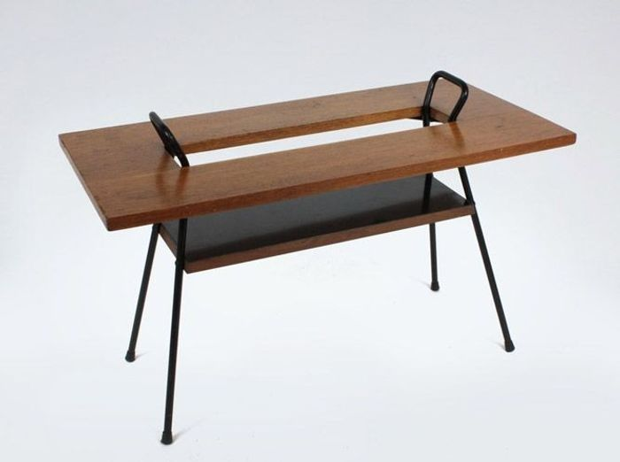 Table basse vintage bois et formica