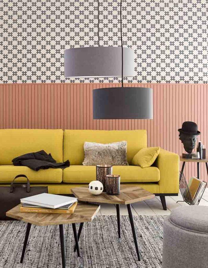 Une table basse en bois pour une touche chaleureuse au for Salon meubles et objets