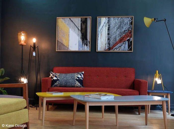 Emejing Decoration Salon Bleu Marine Contemporary - lalawgroup.us ...