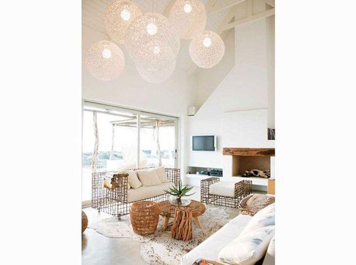 Les plus beaux salons rep r s sur pinterest elle d coration - Maison plain pied deco orientale palm springs ...