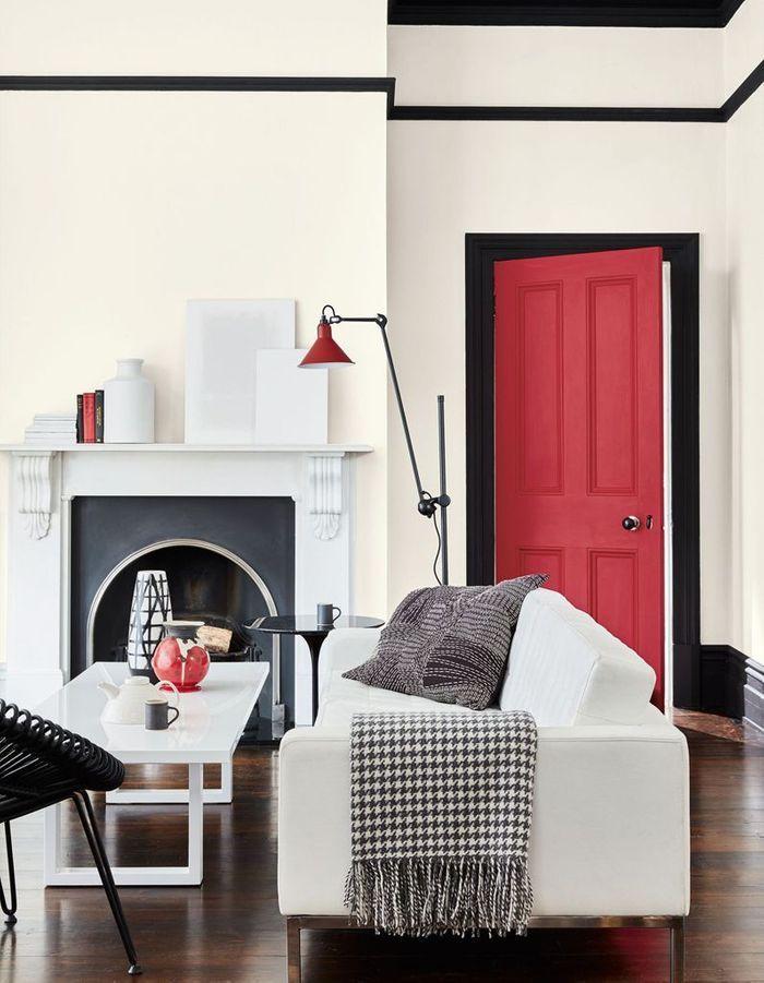 Salon blanc cosy - Salon blanc et noir ...