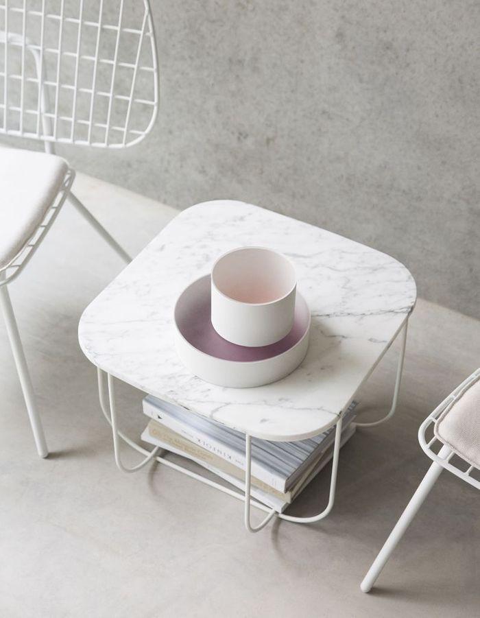 Table basse en marbre Menu
