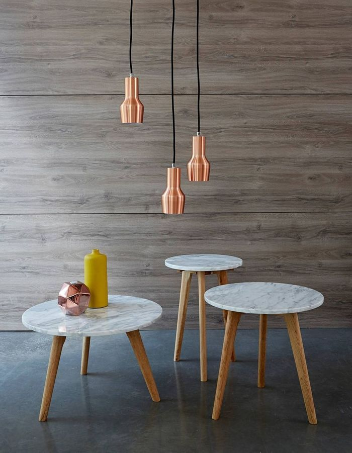 Table basse en marbre Zuiver