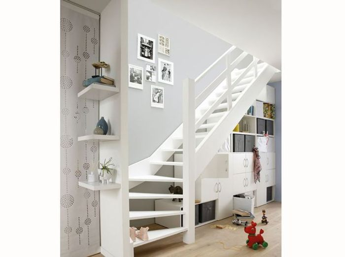 fabriquer un meuble sous escalier maison design. Black Bedroom Furniture Sets. Home Design Ideas
