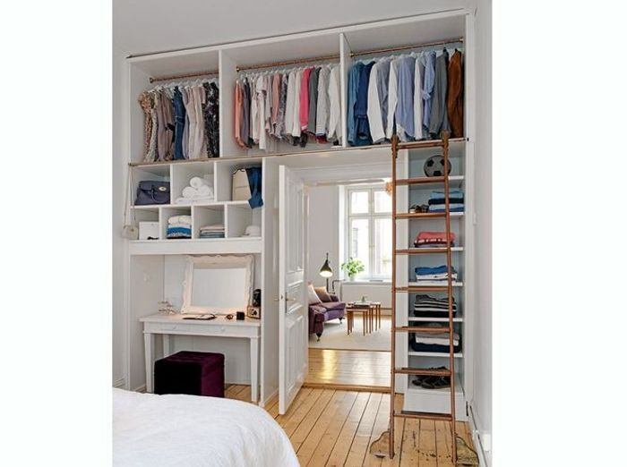 15 id es de dressings pour un petit appartement elle d coration - Idee amenagement dressing ...