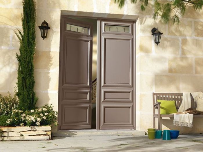 Porte d 39 entr e elle d coration for Porte double battant exterieur