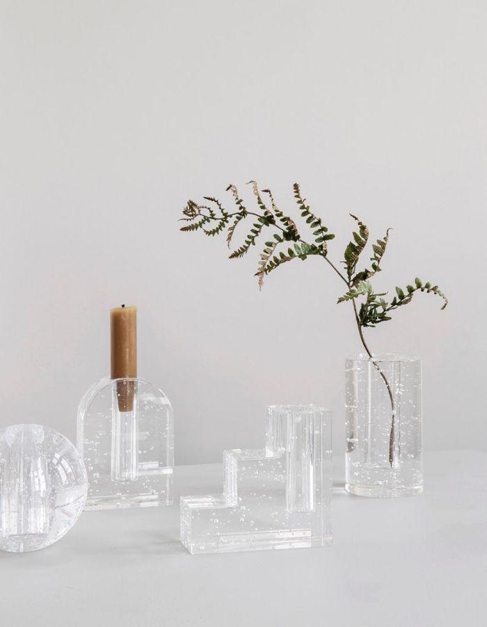 De la petite déco en verre transparent pour une déco cocooning