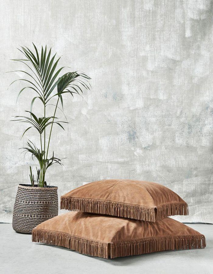 Une plante exotique dans un joli panier