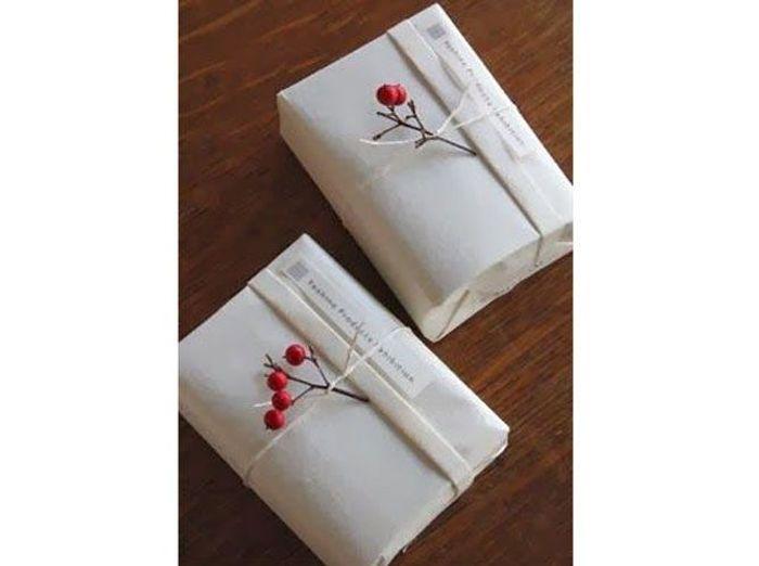 Un paquet cadeau très nature