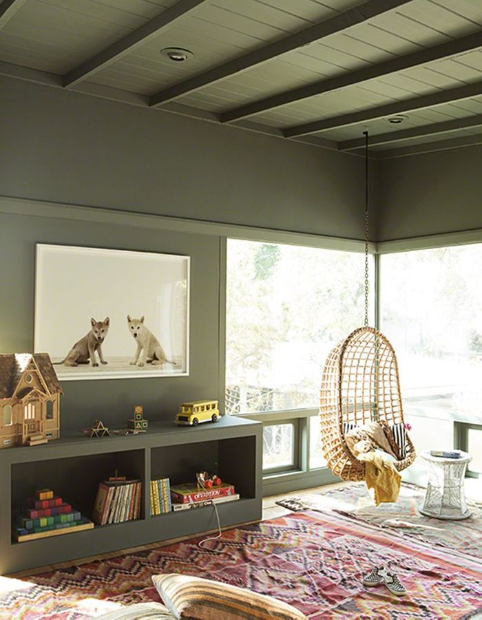 Un plafond et des murs kaki pour une chambre d 39 enfant - Couleur de mur pour une chambre ...