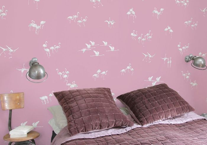 "Papier peint ""Flamants Rose"" Ohmywall"