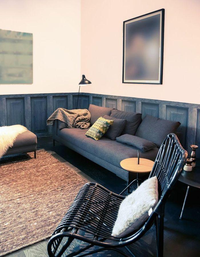 peindre un mur en deux couleurs dynamisez vos espaces. Black Bedroom Furniture Sets. Home Design Ideas