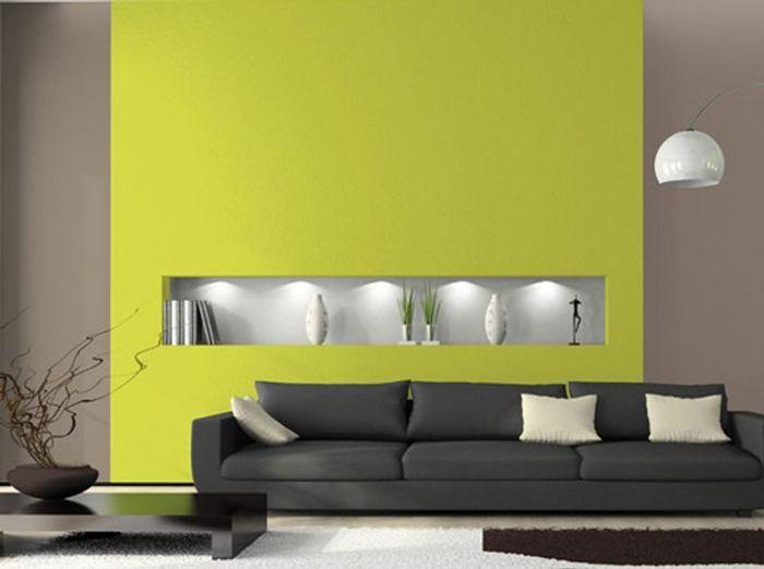 Peinture les couleurs tendance en 2013 elle d coration for Peinture murs salon