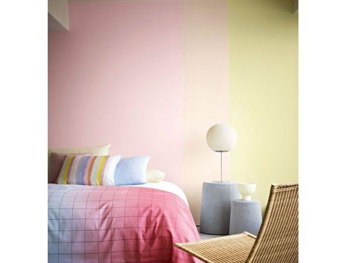 Tendance la peinture pastel s invite sur nos murs elle d coration - Jaune pastel peinture ...