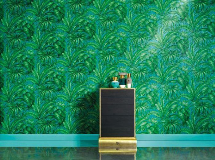 La tendance du jour : le papier peint tropical - Elle Décoration
