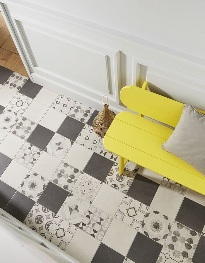 Carreaux de ciment 20 inspirations qui vont vous faire for Carreaux ciment unis