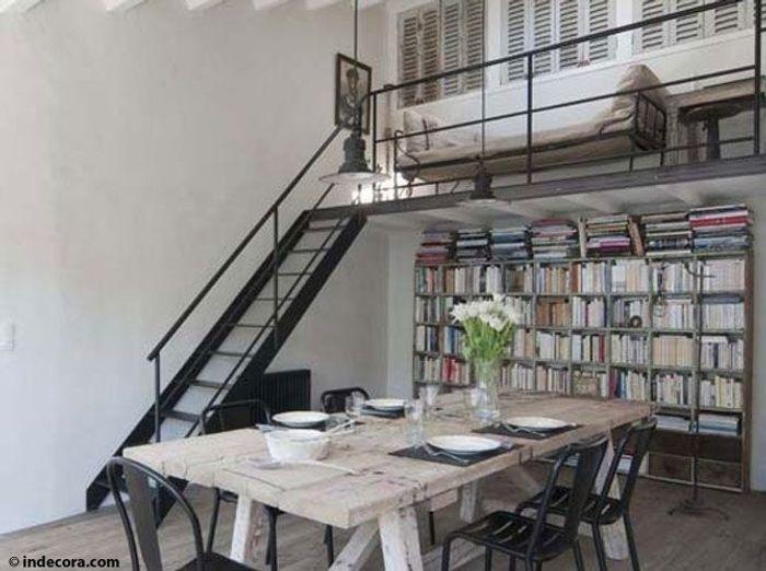 visite d 39 une grange transform e en loft contemporain elle d coration. Black Bedroom Furniture Sets. Home Design Ideas