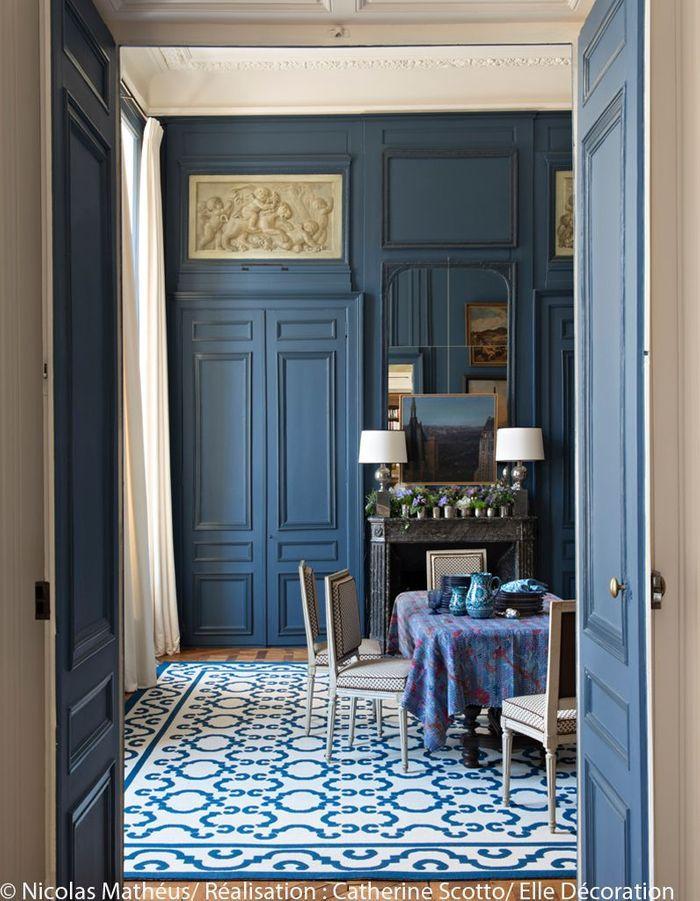 Un appartement entre esprit grand si cle et design des 70 for Elle decoration maison