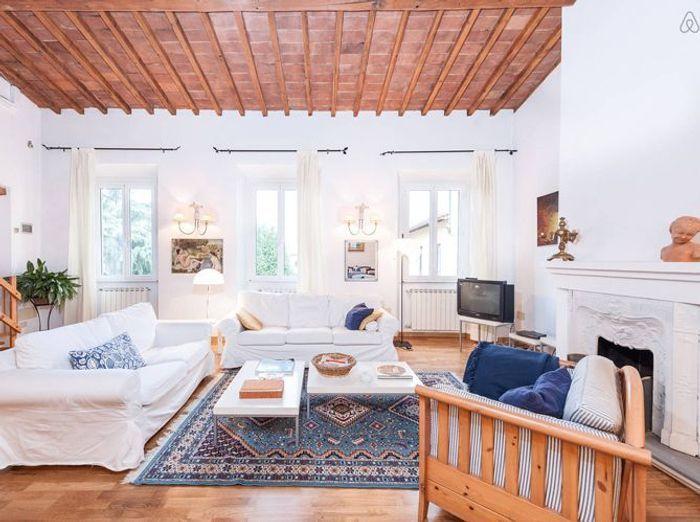 Salon blanc bois