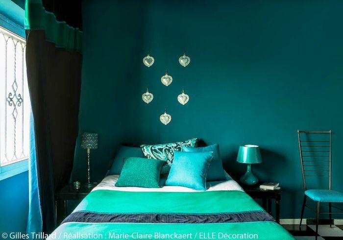 Chambre vert émeraude