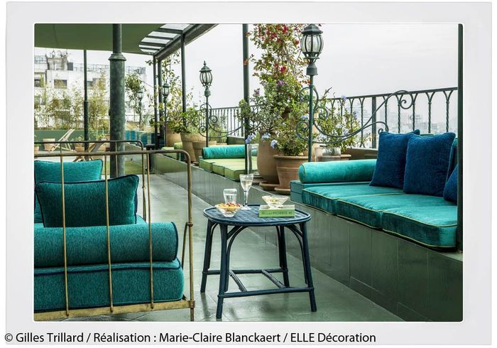 Peindre murs en bleu et vert dans appartement sympa l 39 appartement bleu - Spa terrasse appartement ...