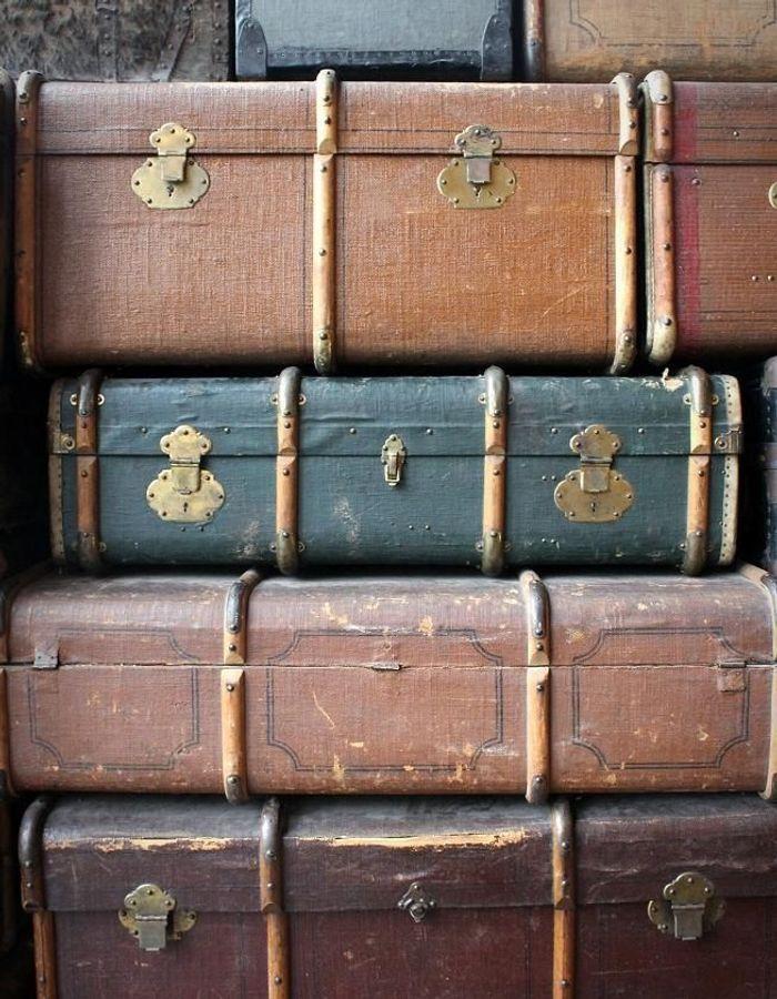 Des malles et valises vintage