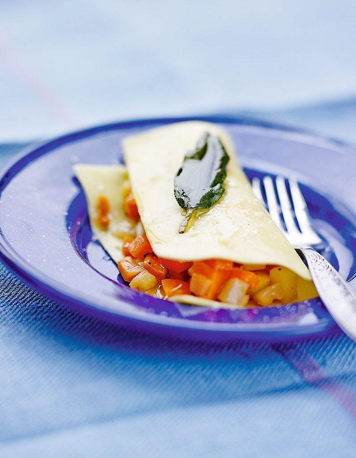 Lasagnes express aux petits l gumes huile la sauge - Cuisiner avec la sauge ...