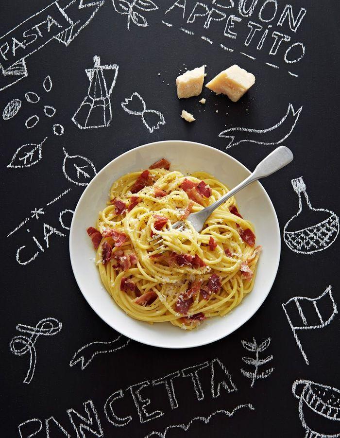 spaghettis carbonara 224 la pancetta comment transcender des p 226 tes au beurre 224 table
