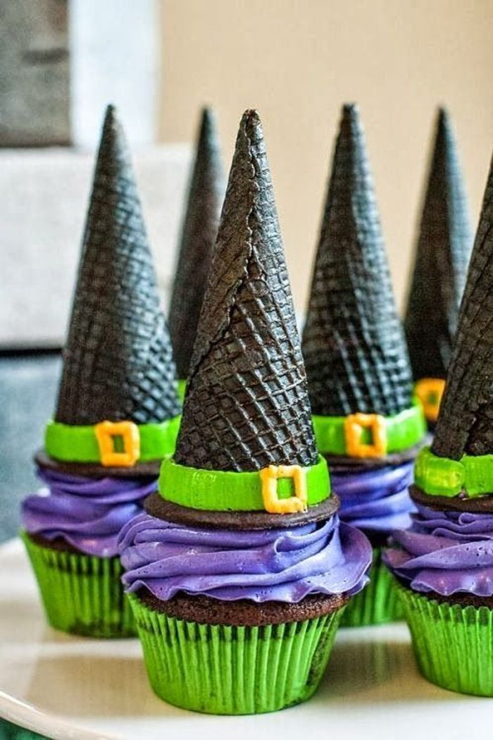 Cupcake halloween chapeau
