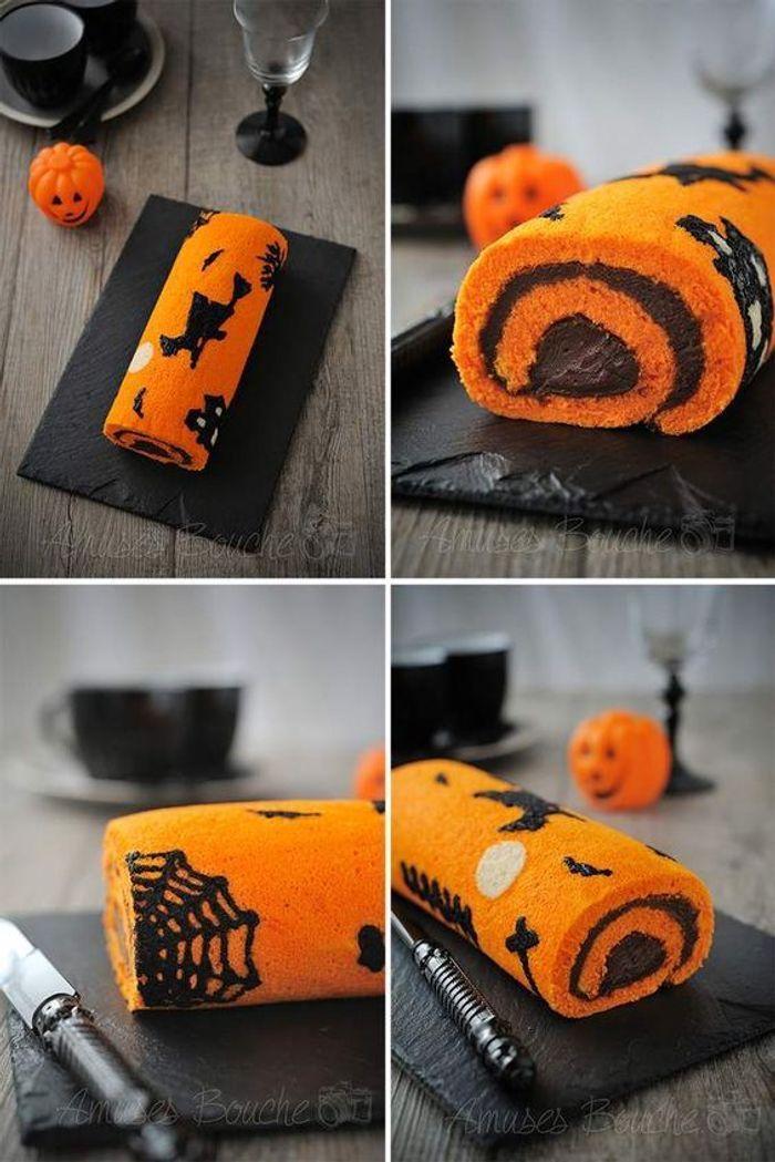 Gâteau halloween citrouille