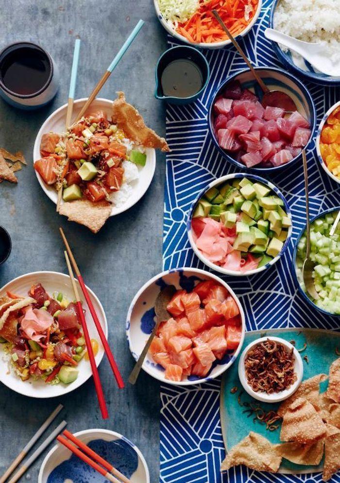 Poke bowl saumon avocat pokebowl le plat hawa en de poisson qui a tout bon elle table - A bon verre bonne table recettes ...