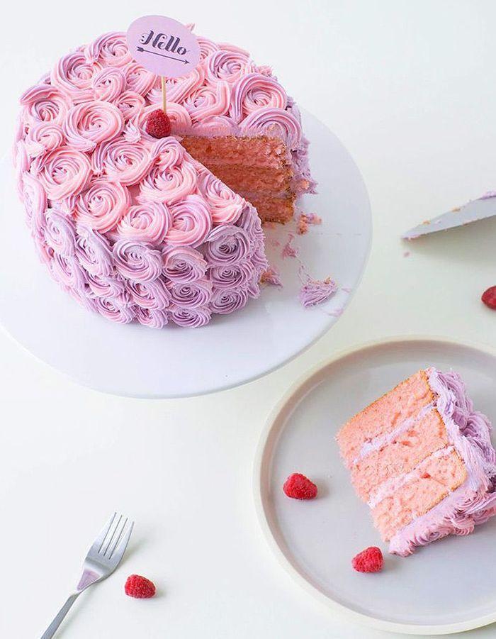 Rose cake : 10 gâteaux de rêve repérés sur Pinterest
