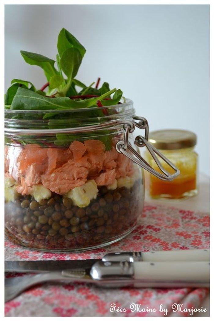 salade de lentilles en bocal saladinajar le bon r flexe pour une alimentation saine elle. Black Bedroom Furniture Sets. Home Design Ideas