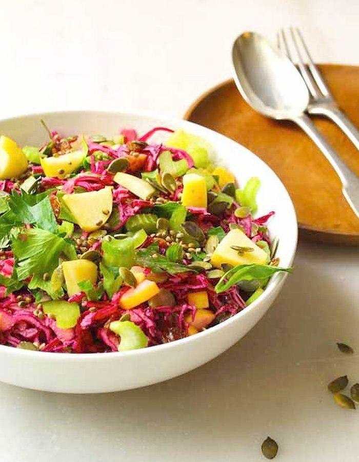 salade d hiver du potager au chou rouge des salades d hiver compl tes qui changent de la soupe. Black Bedroom Furniture Sets. Home Design Ideas