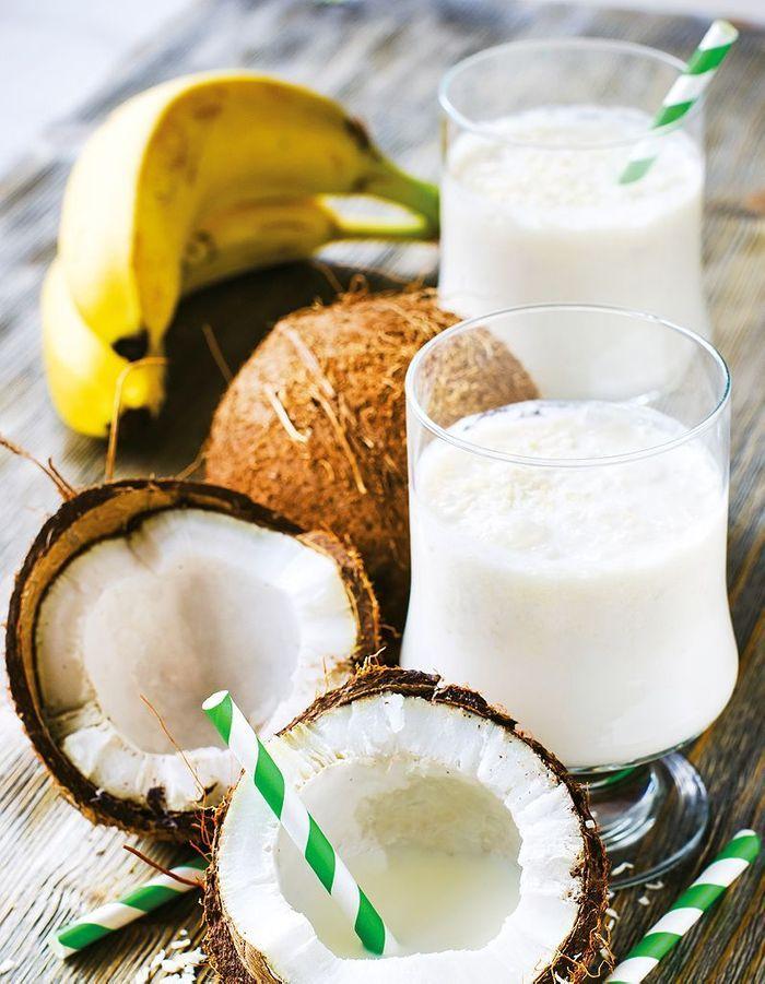 Boisson anti-stress banane coco