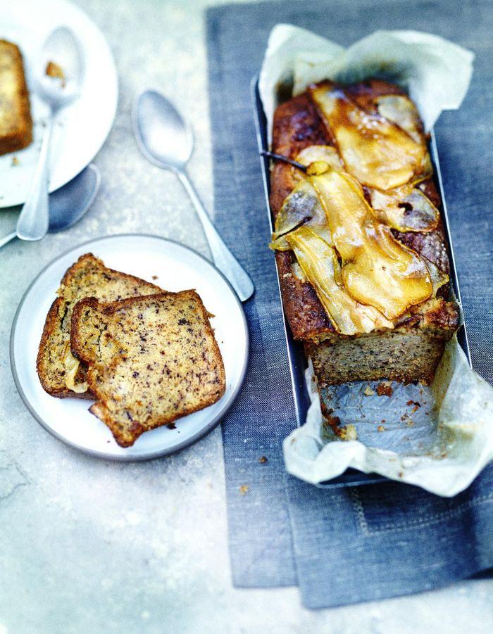 Cake aux poires et polenta