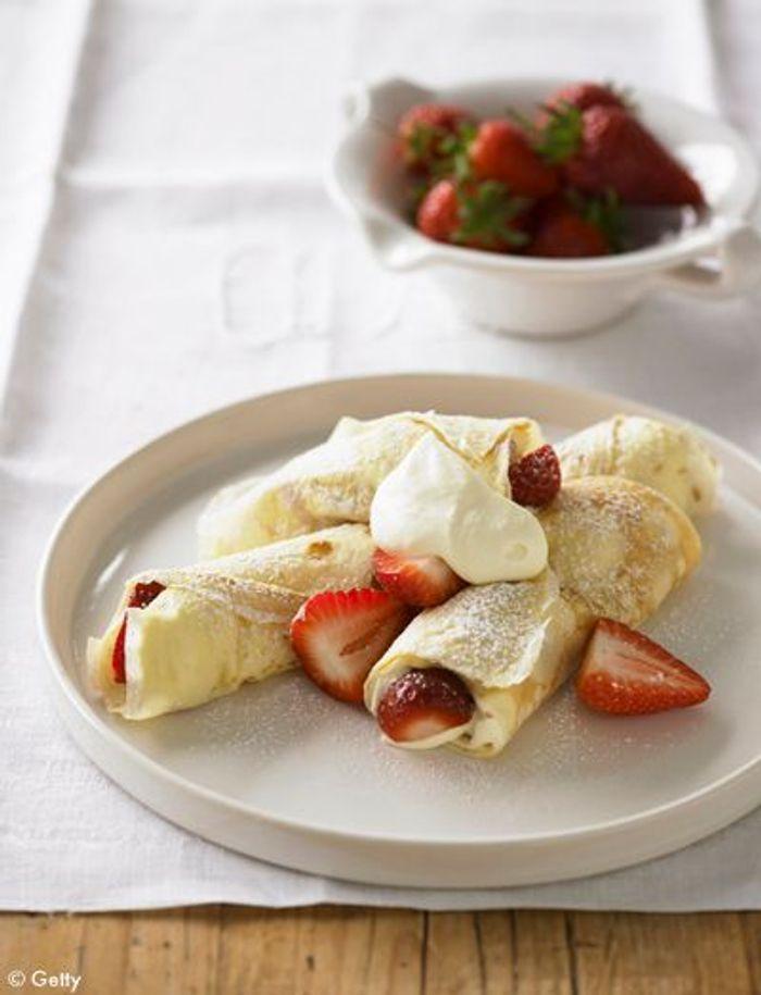Crêpes vanillées à la ricotta et banane