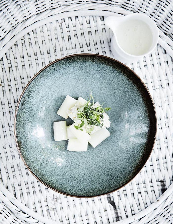 Soupe d'asperges blanches au riz