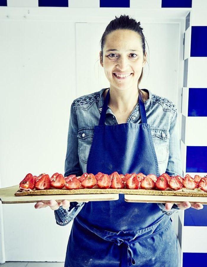 Tarte aux fraises à l'amande sans gluten