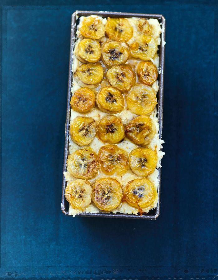 Cake aux bananes, crème aux noix