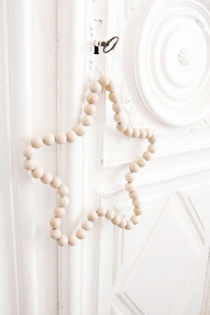activit manuelle d 39 hiver toile en perle de bois 25. Black Bedroom Furniture Sets. Home Design Ideas