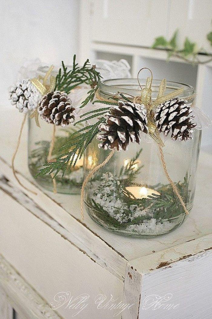 décoration de noël diy avec des pommes de pin - 20 décorations de