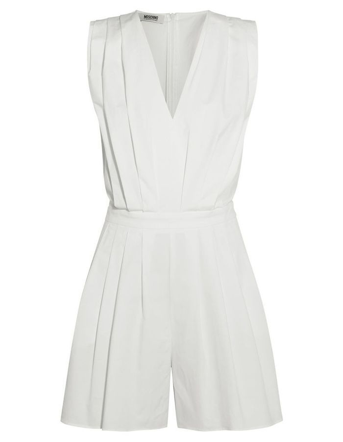 combinaison blanche courte moschino 30 combinaisons blanches pour moderniser la robe de mari e. Black Bedroom Furniture Sets. Home Design Ideas