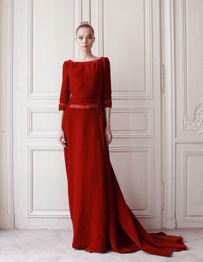 robe de mari e d 39 hiver de couleur 22 robes de mari e d hiver blouissantes elle. Black Bedroom Furniture Sets. Home Design Ideas