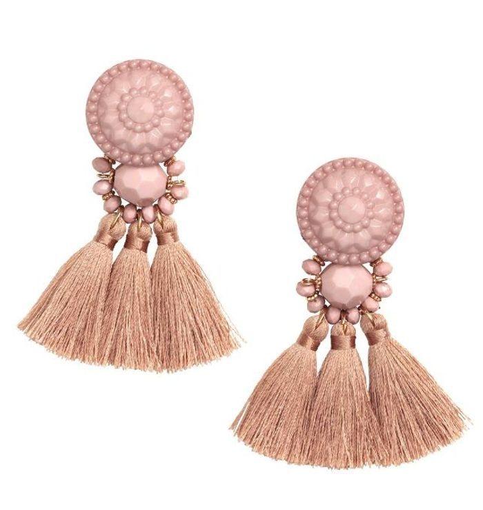Boucles d'oreilles pompon H&M